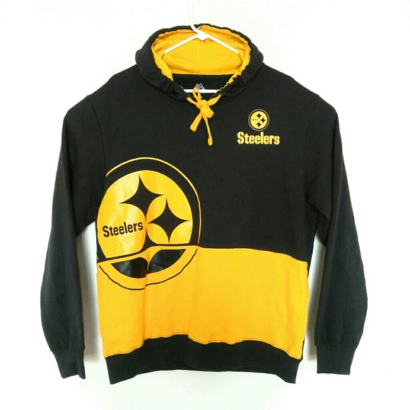 best cheap fc4c1 8b23e Pittsburgh Steelers Hoodie Sweatshirt By Majestic